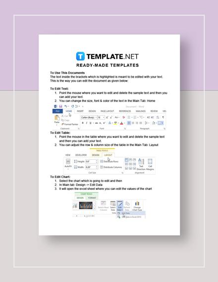 Personal balance sheet Instructions
