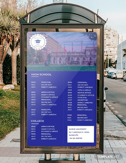Free Digital Directories Signage Template