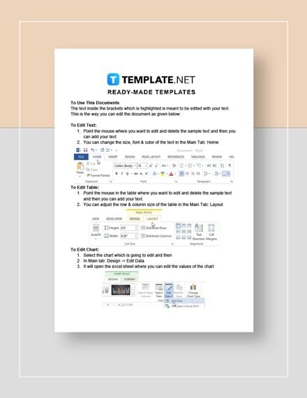 Run sheet Instructions