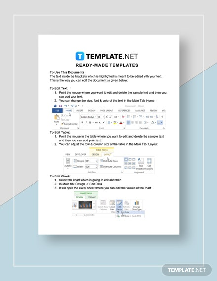 Donation sheet Instructions
