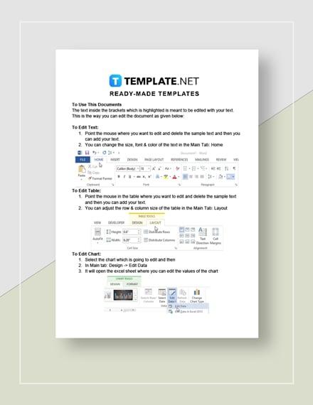 Raffle sheet Instructions