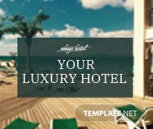 Free Hotel Amenities Digital Signage Template