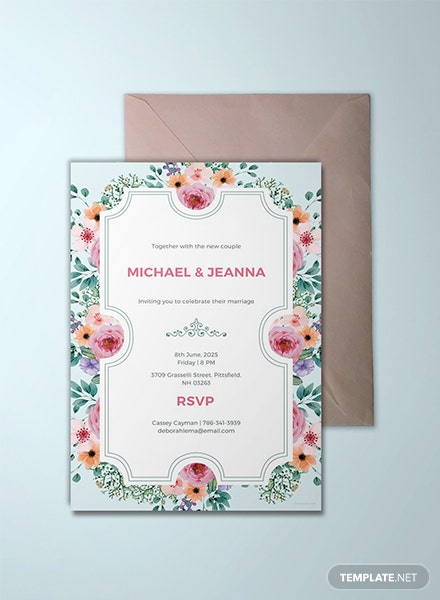Free Wedding Ticket  Invitation Template