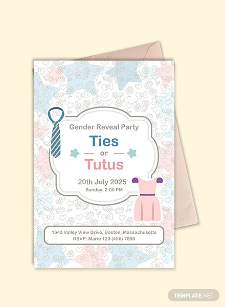 Free Ties and Tutus invitation Template