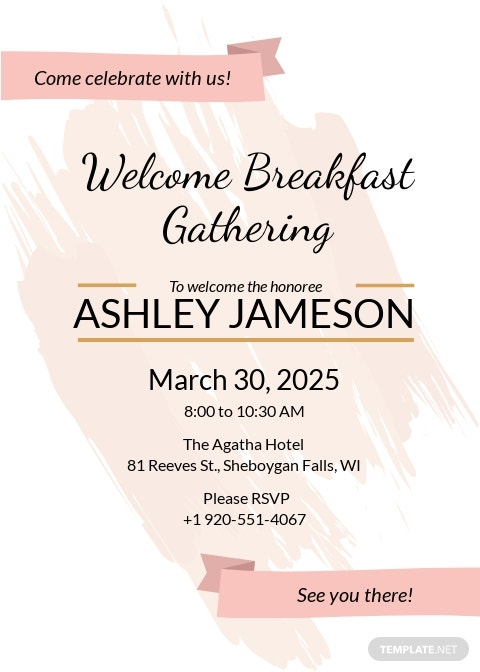 Welcome Breakfast RSVP Invitation Template