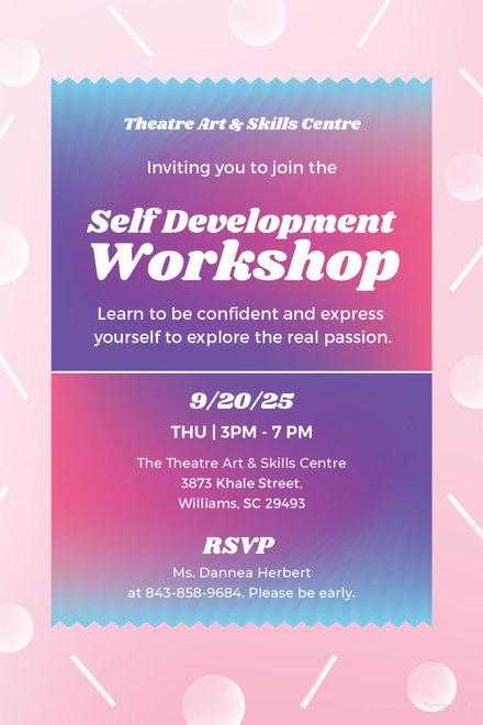 Free Workshop Invitation Template