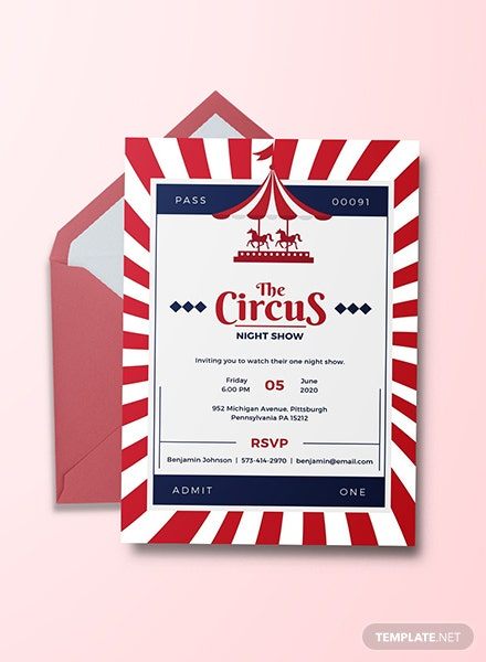 Free Circus Invitation Template