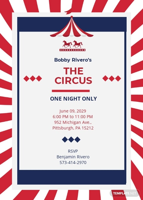 Circus Invitation Template