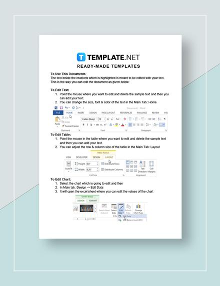 Goal sheet Instructions