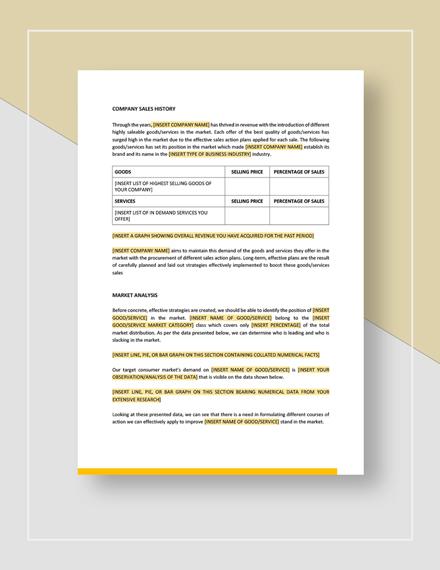 Sales Action Plan Download