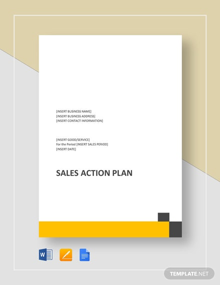 Sales Action Plan Template