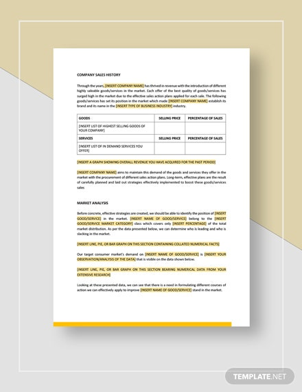 Sample Sales Action Plan