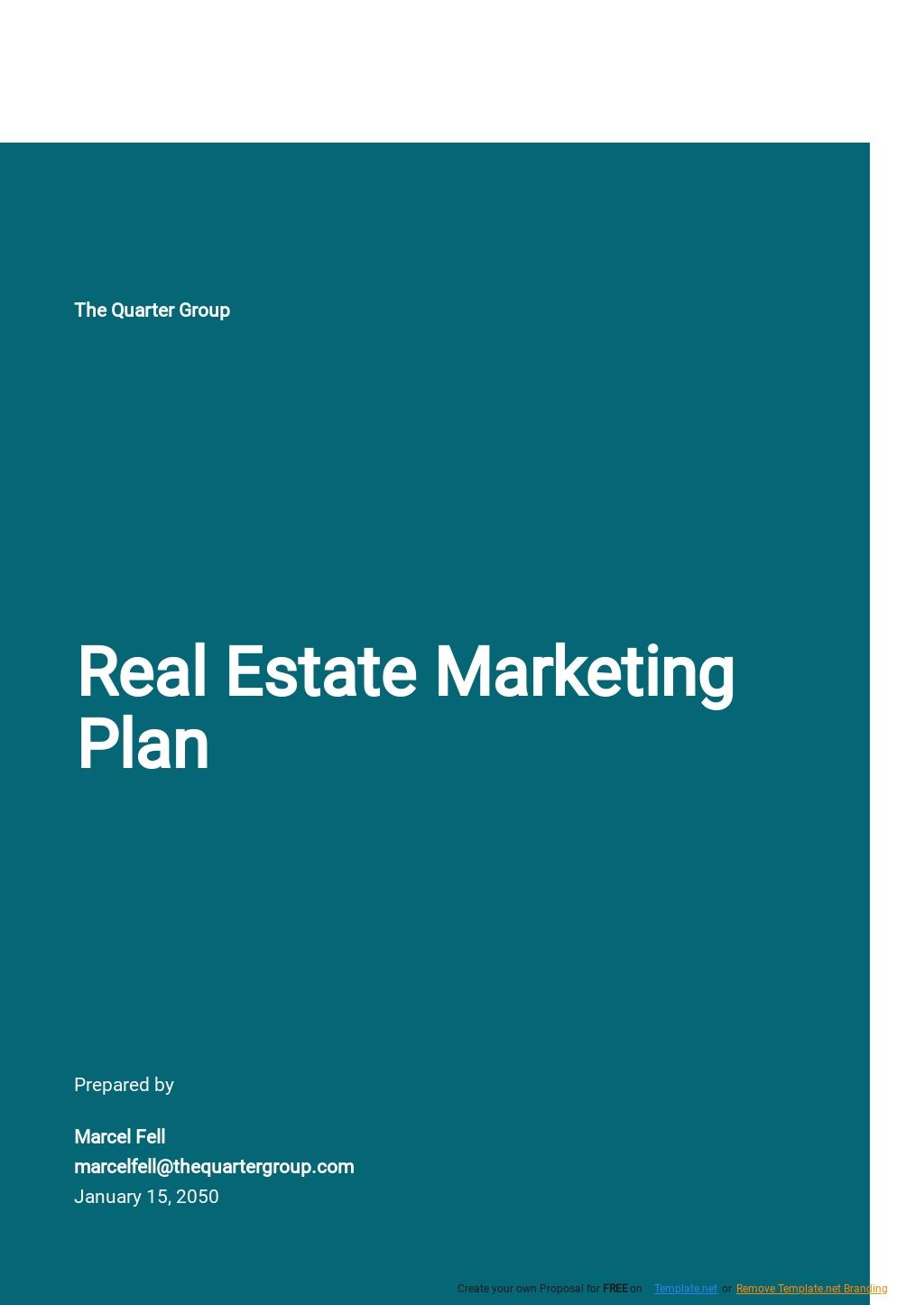 Real Estate Marketing Plan Template.jpe