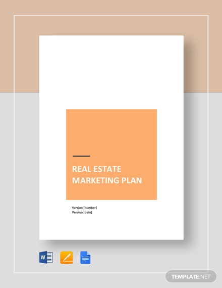 real estate marketing plan