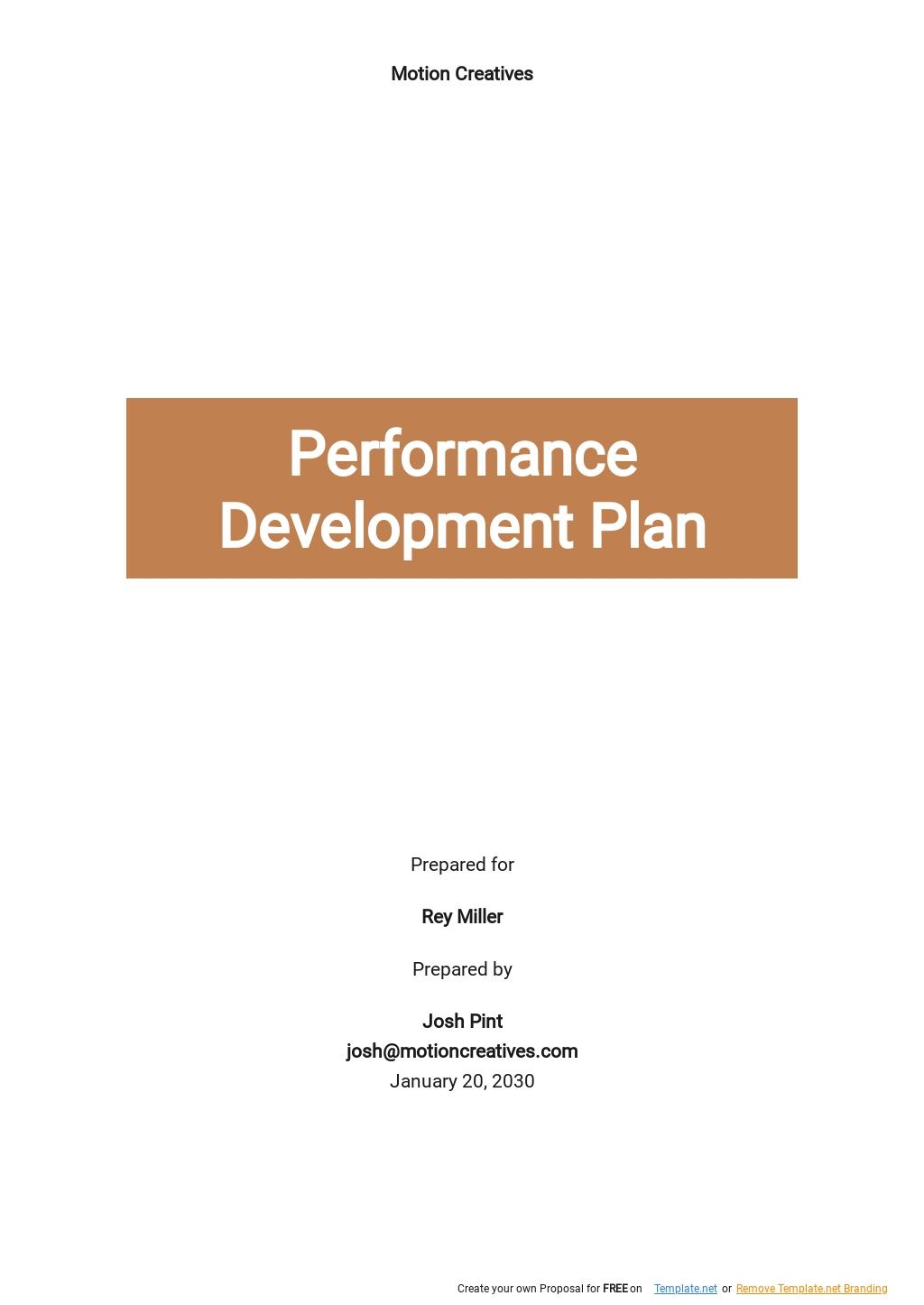 Performance Development Plan Template.jpe