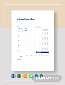 Volleyball Score Sheet Template