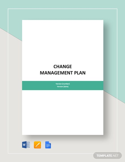 sample change management plan