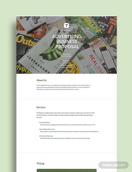 Free Advertising Business Proposal Template