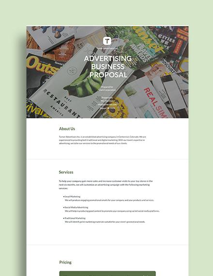 Advertising Business Proposal Sample