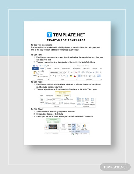 potluck sign up sheet Instructions