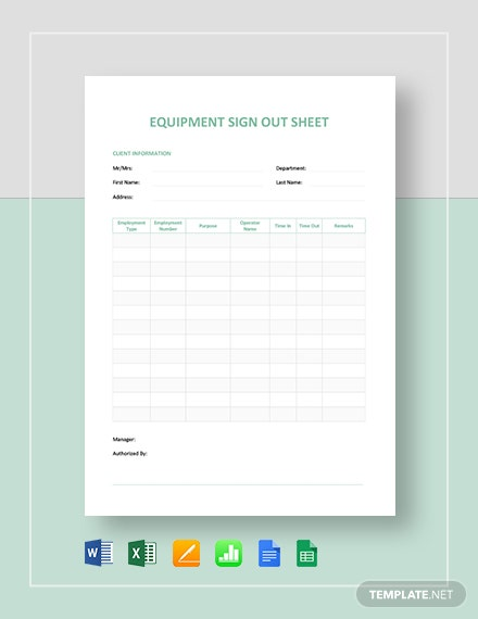 22 Free Equipment Templates Pdf Word Excel Psd Google Docs Indesign Apple Pages Google Sheets Publisher Apple Numbers Illustrator Template Net