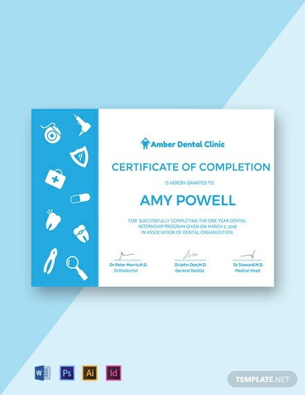 Free Medical Internship Certificate Template