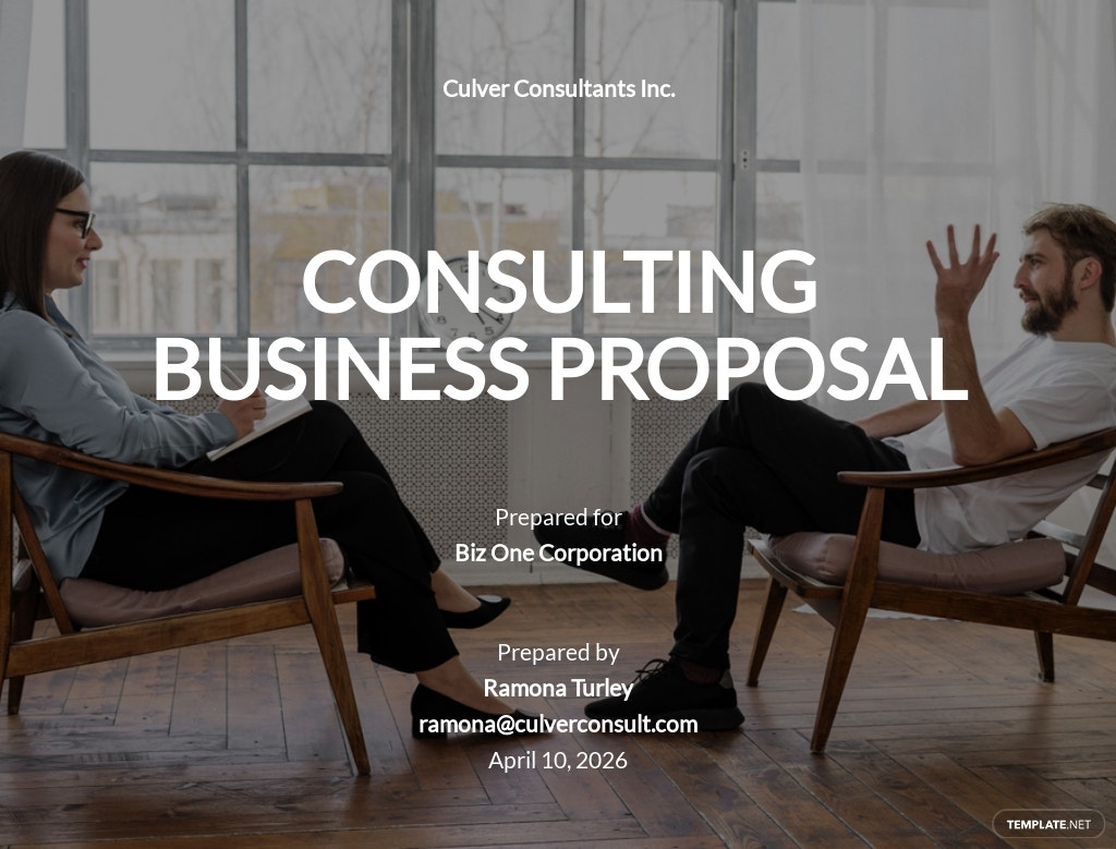 Consulting Business Proposal Template [Free PDF] - Google Docs, Word, Apple Pages, PDF