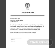 Sample Copyright Notice Template