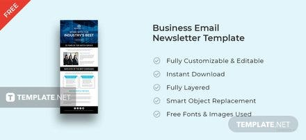 Free Business Email Newsletter Template