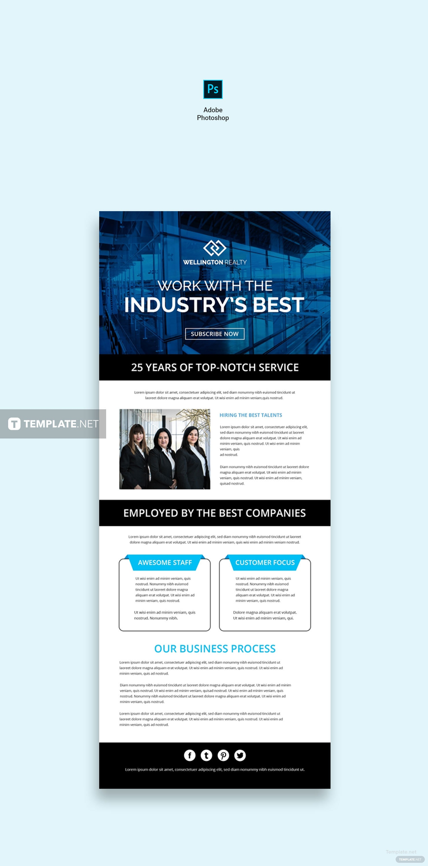 Free business email newsletter template in adobe photoshop business email newsletter template business email newsletter template cheaphphosting Image collections