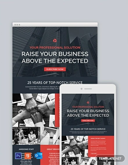 Free Corporate Email Newsletter Template