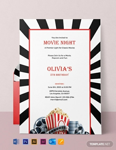 Free Movie Night Invitation Template