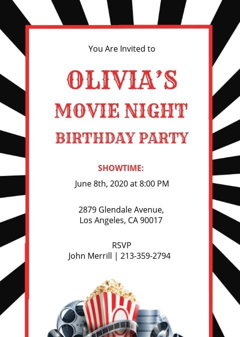 Free Movie Night Invitation Template.jpe
