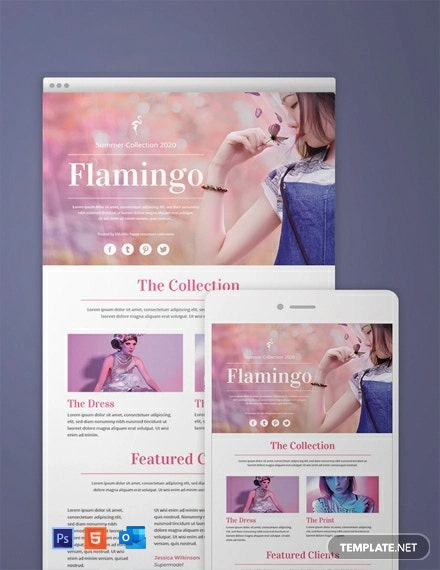 Free Fashion Email Newsletter Template