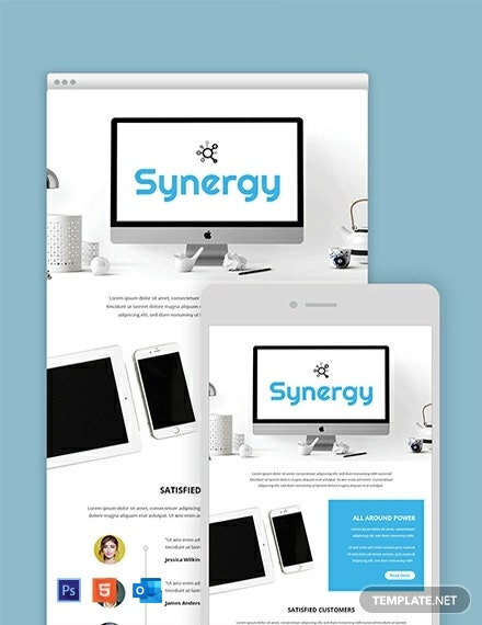 Free Product Email Newsletter Template