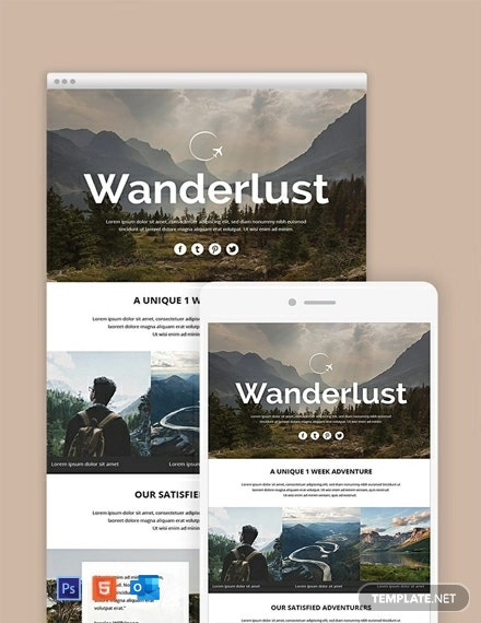 Free Travel Email Newsletter Template
