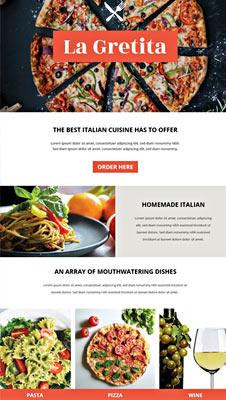 Free Restaurant Email Newsletter Template