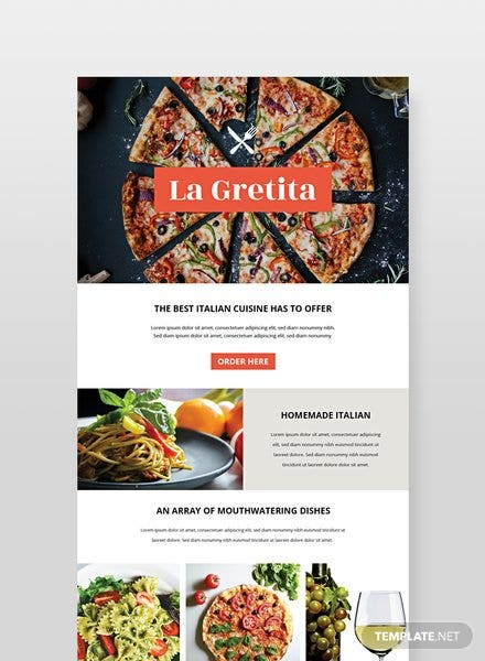 Free Restaurant Email Newsletter Template