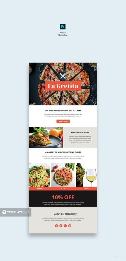 free restaurant email newsletter template free templates. Black Bedroom Furniture Sets. Home Design Ideas