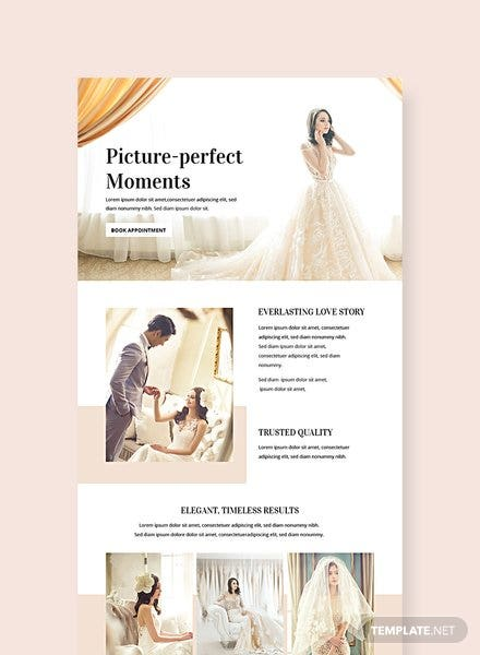 Free Wedding Email Newsletter Template