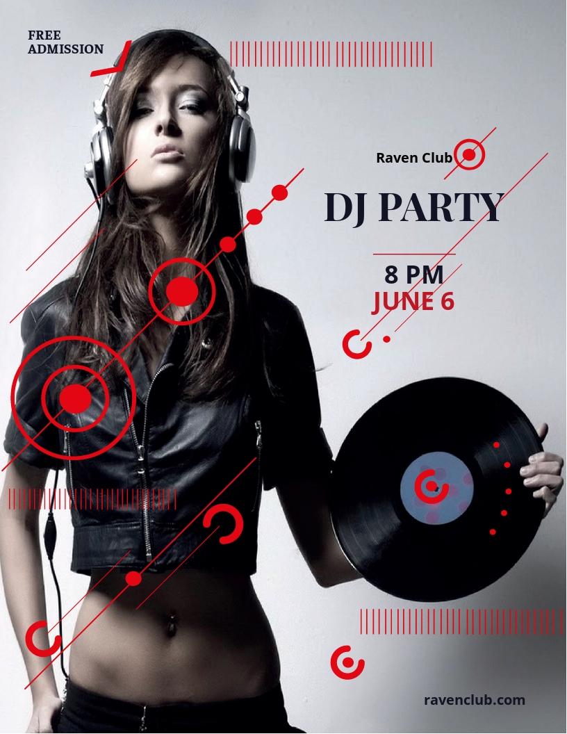 Dj Party Flyer Template.jpe
