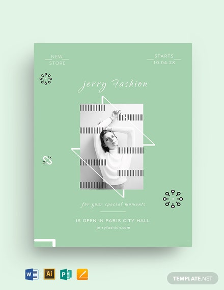 Free Fashion Store Flyer Template