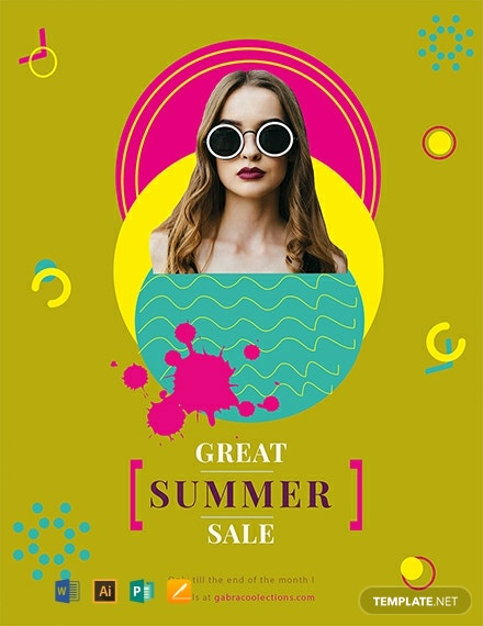 Free Great Summer Sale Flyer Template