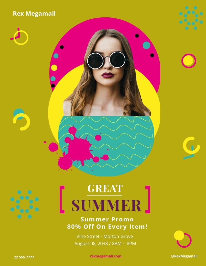 Free Great Summer Sale Flyer Template.jpe