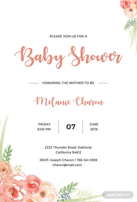 Free baby shower invitation template free templates free baby shower invitation template filmwisefo