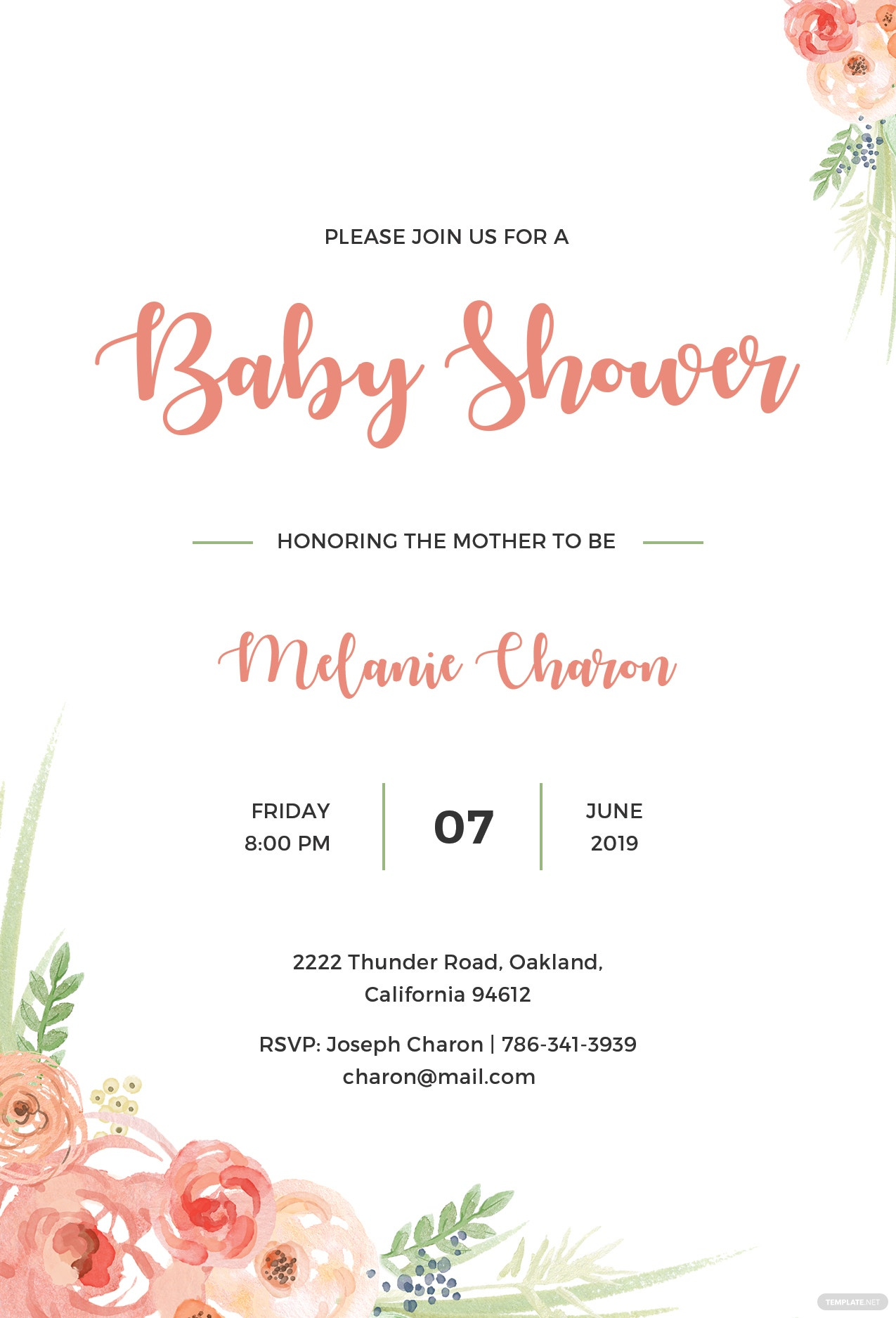 Free baby shower invitation template in psd ms word publisher baby shower invitation template stopboris Gallery