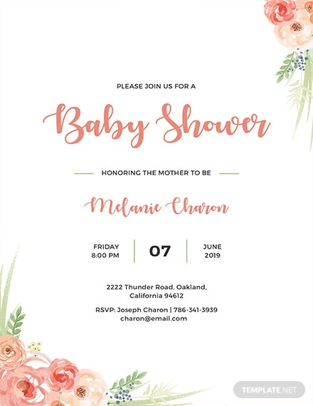 Free Baby Shower Invitation Template Download 344 Invitations In