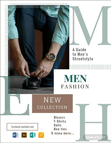Free Men's Collection Flyer Template