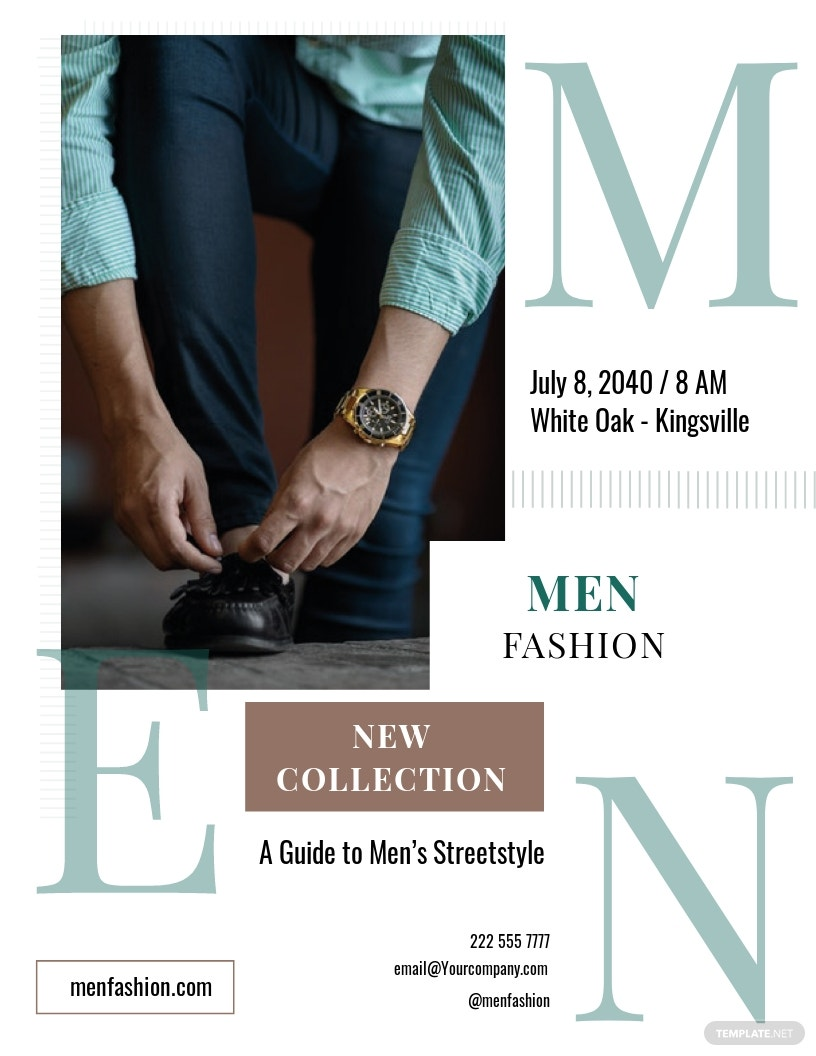 Men's Collection Flyer Template
