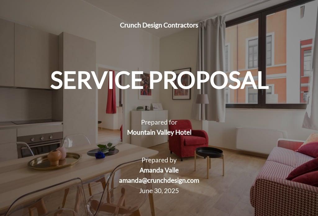 Sample Design Proposal Template